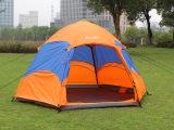 海风亚翼户外帐篷 4人双层双门六角自动帐篷内帐网纱透气帐篷