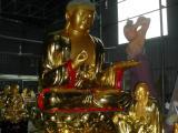 供应木雕佛像 树脂工艺品 3米大佛【阿弥陀佛】彩绘贴金 佛像定做