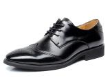 8819男鞋商务正装男士头层皮鞋男真皮正品英伦尖头系带婚鞋单鞋子