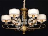 欧式复古灯饰 西班牙云石灯全铜吊灯