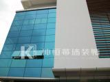 南宁明框玻璃幕墙,坤恒幕墙装饰工程供应专业的南宁幕墙工程