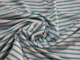 40s人棉色织汗布  彩条针织面料 人造丝 175克 柯桥 高档
