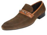 2014新款男鞋欧美大牌高端真皮男士皮鞋尖头套脚反绒皮鞋C957