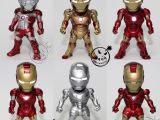 批发供应电影IROM MAN3Q版玩具模型6款钢铁侠带手机耳塞眼