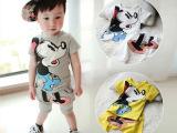 2014夏季新款 韩版夏款米奇短袖套装 童装批发 童套装 一件代