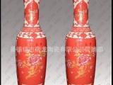 景德镇 中国红大陶瓷花瓶 中国红瓷器 礼