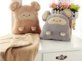 批发卡卡鼠空调毯 多功能卡通鼠抱枕靠垫暖手捂儿童午休毯被