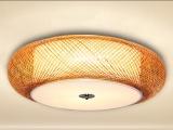 新中式吸顶灯客厅卧室复古吊顶灯具日式竹子灯中式仿古竹编灯饰