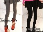 春季新款薄款打底裤 2014韩版女式小脚假两件打底裤裙裤3308
