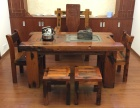 老船木机舱木茶桌 带船舵泡餐桌一手货源