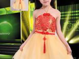 2014新款复古吊带富贵花儿童礼服  古装舞蹈裙8812
