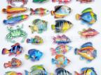 夏天儿童钓鱼玩具 磁性磁力特大号双面透明鱼 特大号散装鱼批发
