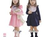 【新品快订】2014童装新款韩版秋装 时尚公主裙女童连衣裙 P0