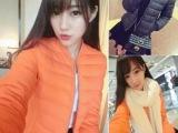 独家定制 新款韩版大牌款保暖时尚羽绒服夹克外套女装