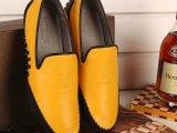 2014新款欧洲站大牌时尚男鞋真皮舒适豆豆鞋微信一件代发