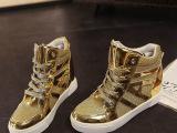 欧洲站2015秋季新款闪亮平底系带高帮鞋女鞋学生休闲增高运动单鞋