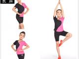 精品优质夏季儿童拼色瑜伽练功服儿童专业短袖运动服 练功服套装