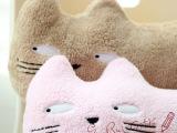 毛绒玩具搞怪表情可爱猫咪舒适棉抱枕靠垫斗鸡眼情侣个性公仔