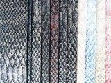 双色喷绘珠光鳄鱼纹皮革 抛光革箱包手袋鞋