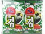 韩国进口食品 休闲零食 即食烤海苔/紫菜 九日迷你海苔20g