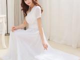 2015夏季新款代购长裙纯色波西米亚修身大摆连衣裙女装仙女裙