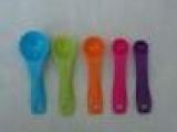 20791 新品上市供应5PC套装塑料量勺-彩色