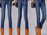 2012新款加绒加厚修身显瘦靴裤棉裤小脚铅笔牛仔裤女裤子冬季保暖