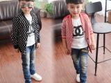 韩版潮儿童棒球服男童外套2015春装男大童棒球服儿童纯棉两面可穿
