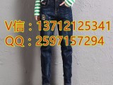 时尚杂款牛仔裤厂家广州整单库存小脚裤5元牛仔裤批发市场