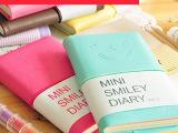 定做批发韩国文具仿皮糖果色笑脸小笔记本 微笑表情皮套记事本