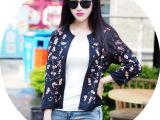 2014秋冬季新款韩国棒球外套亮片钉珠韩版女装小香风短外套115