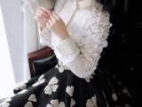 菁菁同款立体花羊毛绒五瓣幸运花大摆毛呢半裙 一件代发 微信代理