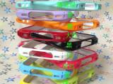 苹果5代手机套 iphone5/5S 小蛮腰塑料边框手机壳烤瓷保