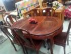 大连地区便宜出售一套二手的红木餐桌