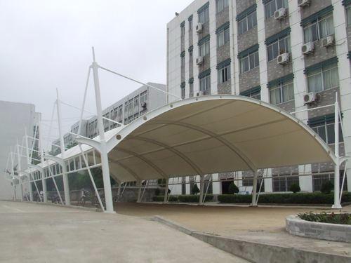 江苏厂家上门包安装膜结构汽车棚汽车遮阳棚自行车棚