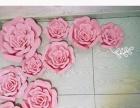 武汉同城婚庆场地布置用大型手工花商场橱窗陈列用花商场暖场