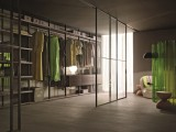 簡約北歐風玻璃門衣柜現代家用柜子大衣櫥衣帽間