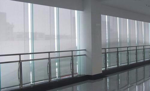 天津双港定做办公窗帘 阻燃卷帘 铝百叶窗帘