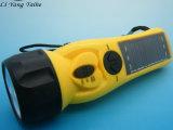 5合一手电筒 :手摇自救灯手电筒,带三个LED灯,带手机充电功能
