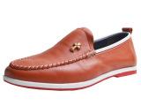 康蜂2014休闲时尚新款男单鞋十字架头层牛皮男鞋一件代发男鞋