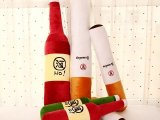 毛绒玩具创意礼物新奇特酒瓶香烟抱枕靠垫送老公男友爸爸同学情侣