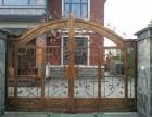 铁艺大门围墙新型护栏不锈钢电动伸缩门等