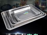 【供应】不锈钢方盘 多规格平底加深方形托盘 水果糕点浅盘烧烤盘