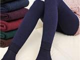 冬七彩棉加厚加绒打底裤 外穿高腰裤潮 女士踩脚无缝一体保暖长裤