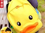 批发新款韩版鸭子包包鸭子双肩包可爱鸭嘴双背包帆布休闲学生书包