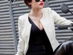 2015秋季新品女装韩版圆领机车潮流修身女式PU皮衣短款外套夹克