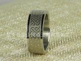 厂家直销蚀刻中国风钛钢戒指 不锈钢饰品定