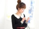 Q02968韩版蕾丝领外套 三层绣花娃娃