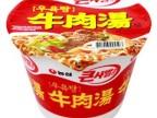 36001 韩国进口方便面 食品 桶装面 农心牛肉汤面桶 115g
