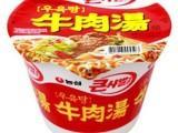 36001 韩国进口方便面 食品 桶装面 农心牛肉汤面桶 115